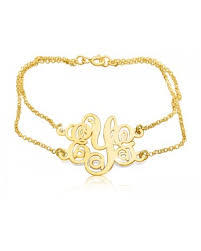 Gold Monogram Bracelet Personalized Earrings Personalized Bracelets The Name Necklace