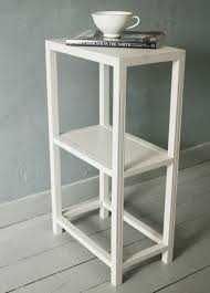 Tall Narrow Bookcase by Nightstand Narrow Nightstand Small Apartment Nightstand Tall