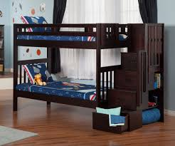 Cascade Espresso Staircase Bunk Bed Stairway Bunk Beds - Navy bunk beds