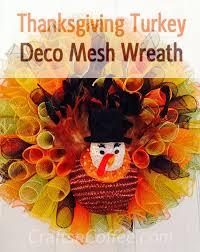 a deco mesh turkey wreath you need to make crafts n coffee