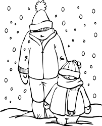 winter coloring sheet 13 print color free