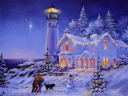 winter christmas tree colorful color light splendor painting