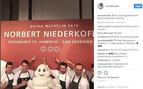 michelin si e social chi è norbert niederkofler il nuovo chef tre stelle michelin panorama