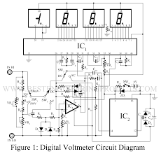 digital voltmeter dvm circuit best engineering projects
