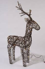 Reindeer Decoration Lumineo 104cm Brown Wicker Light Up Led Reindeer Decoration 72