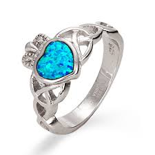 claddagh rings sterling silver opal claddagh ring ebay