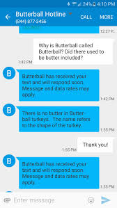 butterball known for its thanksgiving hotline has added a text