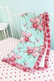 Shabby Chic Crib Bedding Bumperless Shabby Chic Roses Crib Bedding Set By Lottiedababy