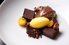 cuisine marquise chocolate marquise with poached kumquats salted caramelised