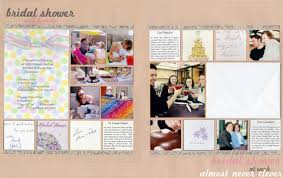 bridal shower photo album scrapbook layout wedding scrapbok bridal shower layouts bridal