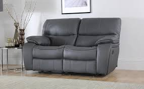 Grey Leather Recliner Beaumont Grey Leather Recliner Sofa 2 Seater Only 549 99