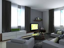 Modern Living Room Curtains Ideas Modern Decoration Gray Living Room Walls With Black Curtain And