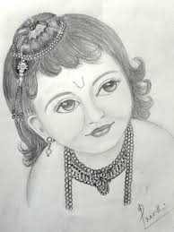 lord baby krishna pencil drawing image drawing of sketch