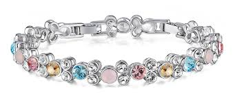 crystal bracelet designs images Buy yellow chimes crystals from swarovski multicolor crystals jpg