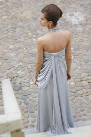 dress with necklace images Silver grey silk evening dress with jewelry necklace 80190 jpeg
