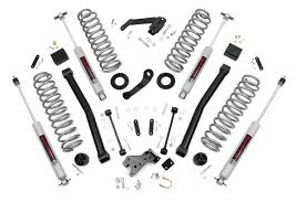 jeep wrangler white 4 door lifted 3 5in suspension lift kit for 07 17 jeep jk wrangler unlimited