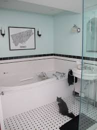 Blue Bathrooms Decor Ideas Cool Black White Blue Bathroom Decorating Ideas Contemporary