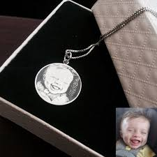 Personalized Photo Pendant Necklace Custom Necklaces Silver Necklace Necklaces For Girls