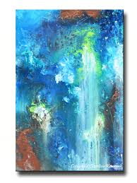 giclee print art abstract painting modern blue canvas prints urban