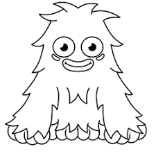 drawn monster simple pencil and in color drawn monster simple