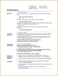 6 biodata for teachers format cook resume