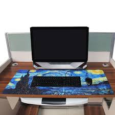 desk size mouse pad xl size mouse pad starry night extended waterproof anti slip natural