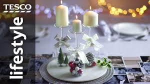 how to create a wine glass candle holder for christmas tesco