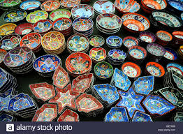 traditional turkish gifts on sale at the weekly market in kalkan