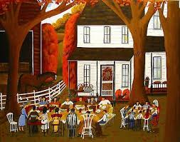 thanksgiving folk paintings
