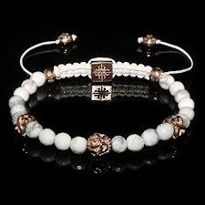 silver gold bracelet images Howlite gold bracelet jpg