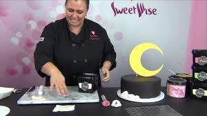 moon and stars baby shower cake by www sweetwise com youtube