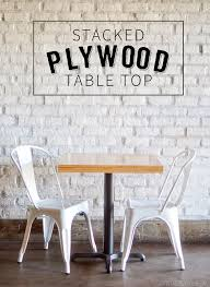 diy stacked plywood tables plywood table plywood and tabletop