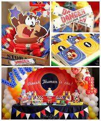kara u0027s party ideas looney tunes tazmanian devil themed birthday party