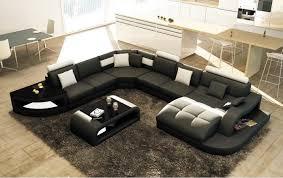 c discount canapé canapé d angle design panoramique istanbul noir et blanc canapé