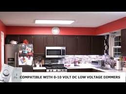kitchen led light fixtures how to install led panel light fixture youtube