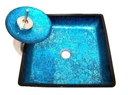 blue glass vessel sink blue glass vessel sink victory bathroom basin faucet mounting ring