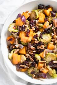 cranberry pecan roasted vegetables easy thanksgiving side dish