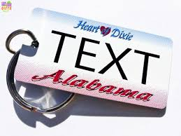 Alabama travel gifts images 35 best personalized state license plate keychains souvenirs jpg