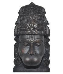 wall sculpture wood tagore sculpture wood lord hanuman wall sculpture black buy