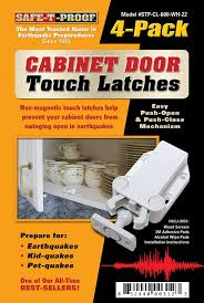 Precision Cabinet Doors by Amazon Com Safe T Proof Cabinet Door Touch Latches White 4 Pack