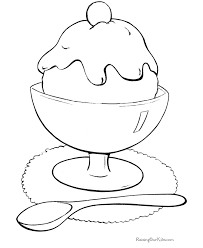 ice cream coloring print color coloring pages