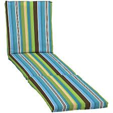 Walmart Outdoor Chaise Lounge Cushions Mainstays Stripe Outdoor Chaise Lounge Cushion Blue Stripe