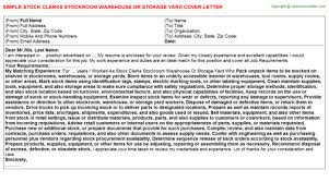 stock clerk cover letter forklift operator advice create my