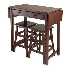table with 2 stools winsome mercer 3 piece double drop leaf small table set with nesting