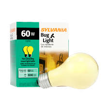 yellow bug light bulbs shop sylvania 2 pack 60 watt dimmable yellow a19 incandescent bug