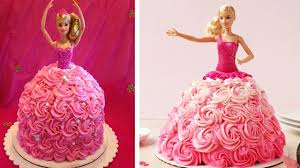 How Decorate Cake At Home How To Make A Barbie Doll Cake At Home Barbie Birthday Cake