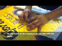 how to heat transfer jersey numbers clothes iron youtube