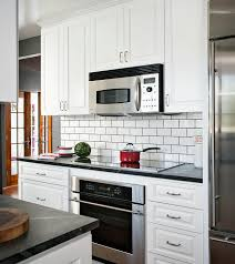 black subway tile kitchen backsplash gray subway tile backsplash kitchen contemporary with black