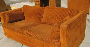 Corduroy Sofa Bed Uhuru Furniture U0026 Collectibles Sold Orange Corduroy Sofabed 50