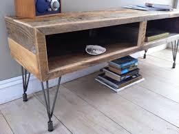 Wood Contemporary Bedroom Set With Metal Legs Modern Industrial Wood U0026 Steel Tv Media Stand Reclaimed Barnwood